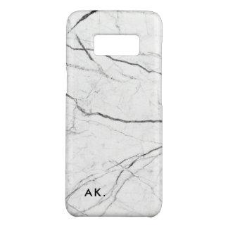 Modern Marmeren patroon - voeg uw initialen toe Case-Mate Samsung Galaxy S8 Hoesje