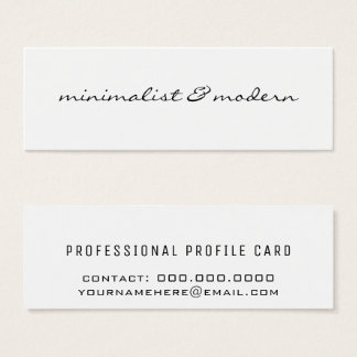 modern & minimalistisch mini visitekaartjes