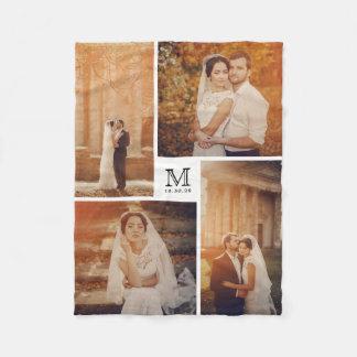 Modern Monogram 4 van het Huwelijk de Deken van de