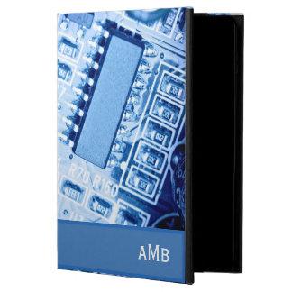 Modern Motherboard Patroon in Blauwe Kleuren iPad Air Hoesje