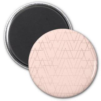 modern nam gouden geometrische driehoeken blozen magneet