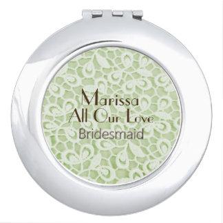 Modern-Parijse-huwelijk-groen-kant-gunst Reisspiegeltjes