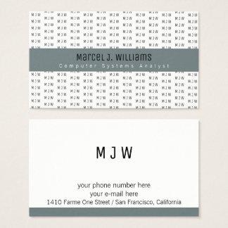 modern professioneel grijs streep & visitekaartjes
