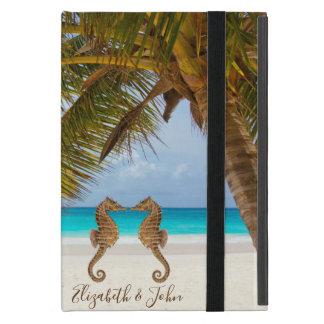 Modern Strand, seahorses-Gepersonaliseerde Palm, iPad Mini Hoesje