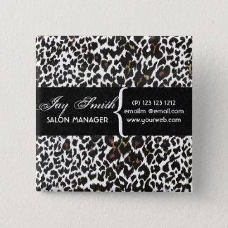 Modern Van het Bedrijfs haar van de Salons van de Vierkante Button 5,1 Cm