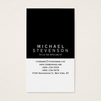 Modern Zwart Grijs Wit Duidelijk Visitekaartje