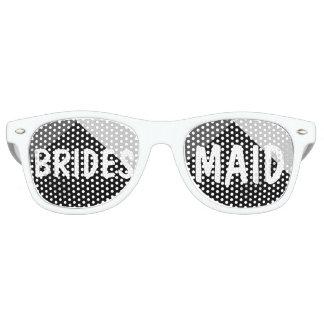 Modern zwart wit driehoeken colorblock festival zonnebril