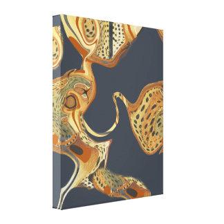 Moderne Abstracte het Schilderen Vloeistof Canvas Afdrukken