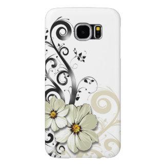 Moderne Bloemen het Wervelen Tierelantijntjes | Samsung Galaxy S6 Hoesje