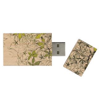 Moderne BloemenAchtergrond 234 Houten USB 2.0 Stick