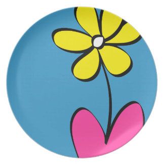 Moderne Daisy Flower Dinner Plate Bord