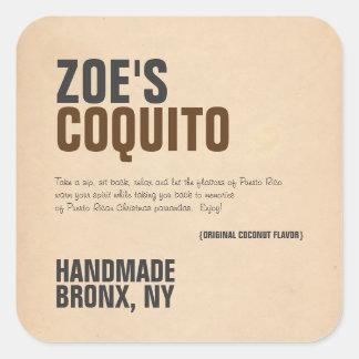 Moderne de Plattelander van Coquito Vierkante Sticker