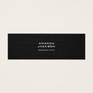 Moderne Duidelijke Trendy Minimalistische Zwarte Mini Visitekaartjes