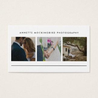 Moderne Eenvoudige Drie Foto | Minimalistische Visitekaartjes