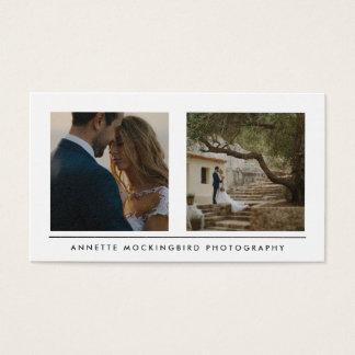 Moderne Eenvoudige Twee Foto | Minimalistische Visitekaartjes