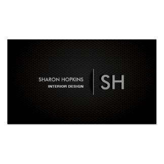 Moderne Elegante Eenvoudige Duidelijke Zwarte Glad Visitekaartjes