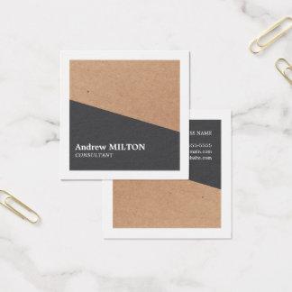 Moderne Elegante Grijze Witte Geometrisch van Vierkant Visitekaartjes
