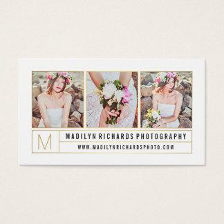 Moderne elegante witte elegante gouden visitekaartjes
