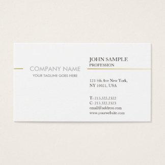 Moderne Elegante Witte en Gouden Eenvoudige Visitekaartjes