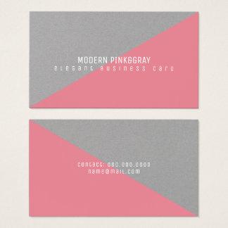 moderne en geometrische minimale roze grijs visitekaartjes