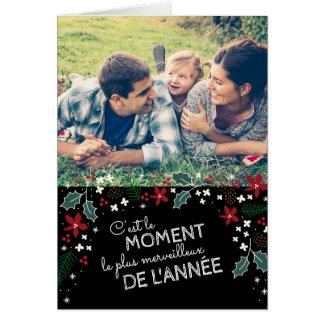 Moderne fotokaart van begroetingen van vakantie wenskaart