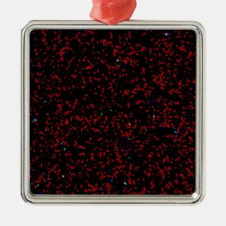 Moderne Fractal Modieuze Koel van de Patronen van Zilverkleurig Vierkant Ornament