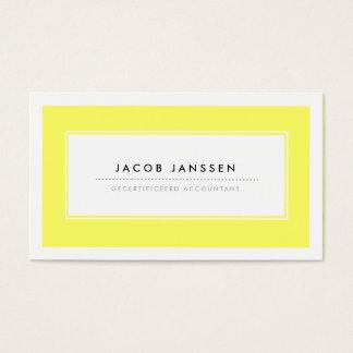Moderne Geel Visitekaartjes