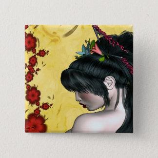 Moderne Geisha Vierkante Button 5,1 Cm