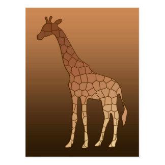 Moderne Geometrische Giraf, Koper en Bruin Briefkaart