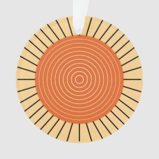 Moderne Geometrische Zonnestraal - Mandarijntje Ornament