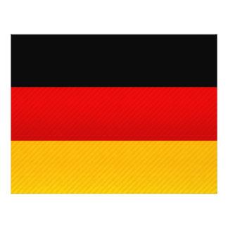 Moderne Gestripte Duitse vlag Fullcolor Folder