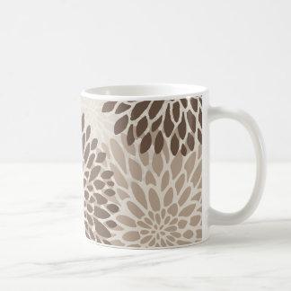 Moderne Grafische Chrysant Koffiemok