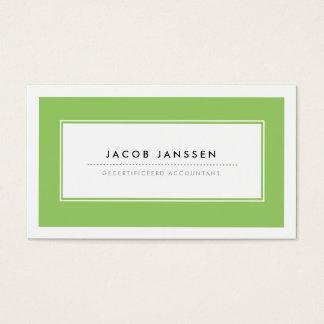 Moderne Groen Visitekaartjes