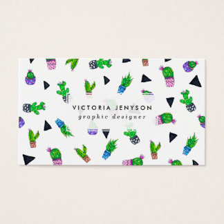 Moderne het patroonillustratie van de visitekaartjes