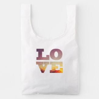 Moderne het woordzak van de Liefde van ontwerp Herbruikbare Tas
