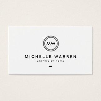 Moderne Initialen I het Gediplomeerde Visitekaartjes