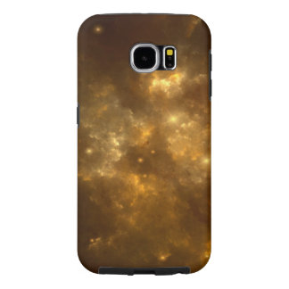 Moderne Koele Mooie Gouden Nevel, Sterren & Ruimte Samsung Galaxy S6 Hoesje