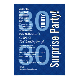 Moderne Koningsblauwen van de Verjaardag van de 12,7x17,8 Uitnodiging Kaart