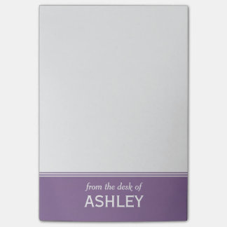 "Moderne Lavendel Paarse Gepersonaliseerde 4"" x 6 "" Post-it® Notes"