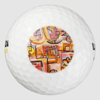 Moderne leven-Hand Geschilderde Geometrische Golfballen