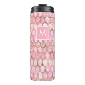 Moderne Meermin | Roze Glam met Monogram Thermosbeker