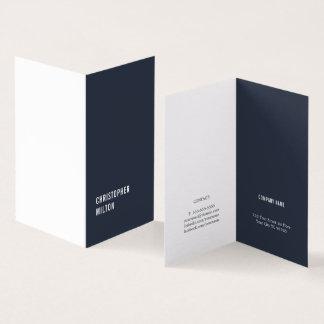 Moderne Minimale Blauwe Witte Adviseur Kaart