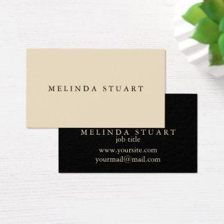 Moderne Minimalistische Elegante Zwart-wit Visitekaartjes