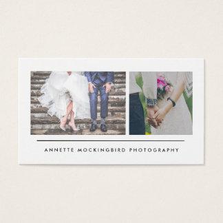 Moderne Minimalistische Fotografie Twee Foto's Visitekaartjes