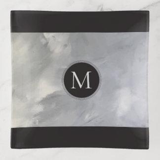 Moderne Minimalistische Samenvatting Met monogram Sierschaaltjes