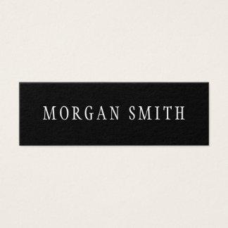 Moderne Minimalistische Zwart-wit Mini Visitekaartjes