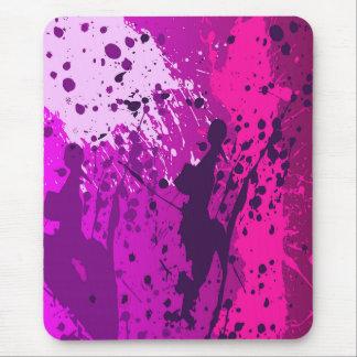 Moderne mousepad, roze, bespoten viooltje, muismat