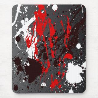 Moderne mousepad, samenvatting, witte zwarte, muismatten
