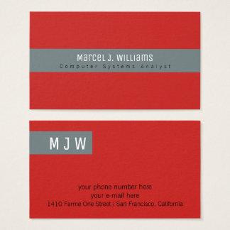 moderne professionele grijze streep op duidelijk visitekaartjes