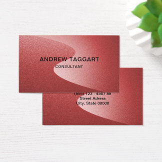 moderne rode krommen visitekaartjes